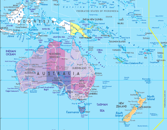 Map Of Australia And Neighbouring Countries.Australia S Neighbouring Countries Home